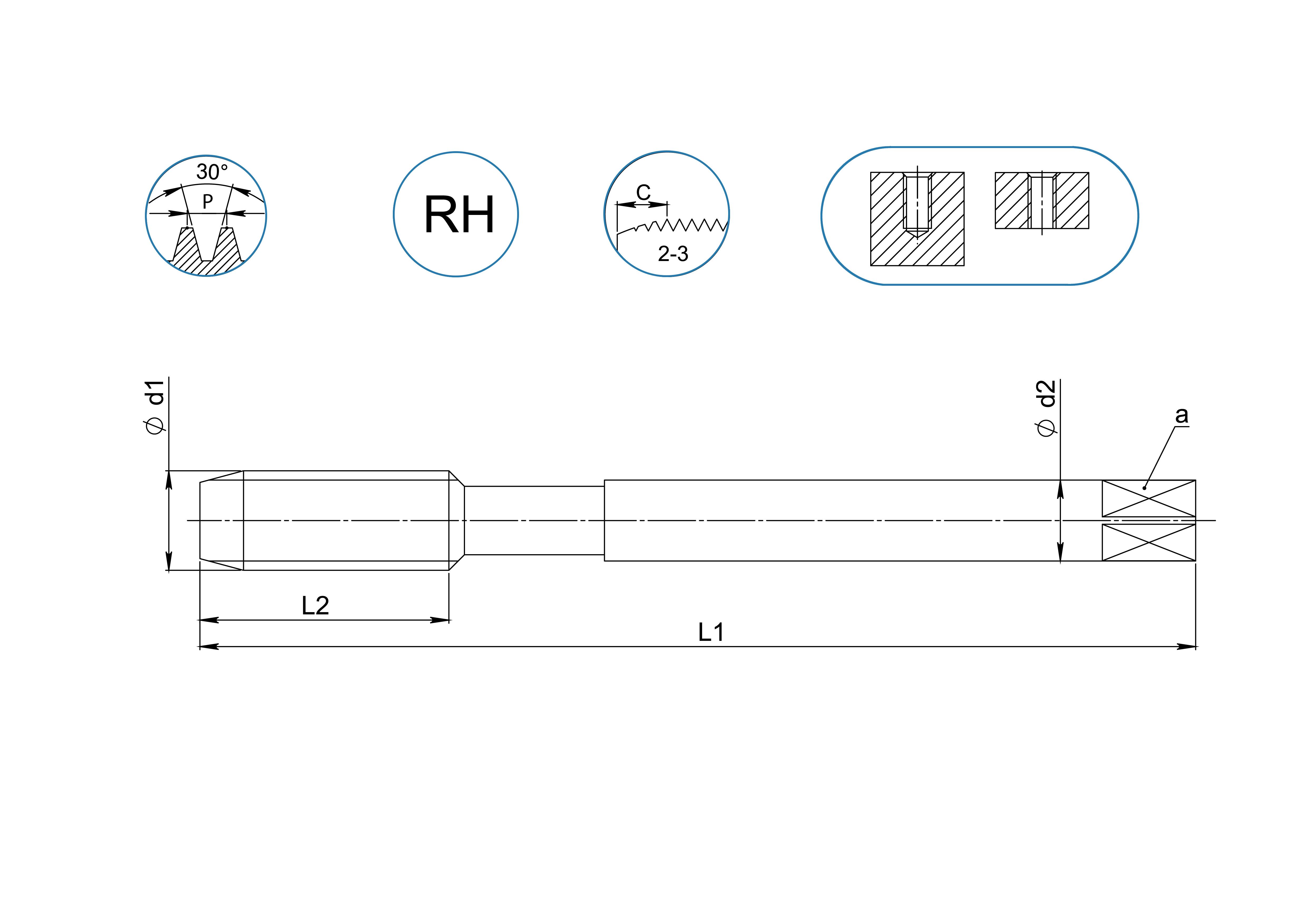 Метчики для резьбы BSW-PG-Tr-Rd | stamo-tools ru